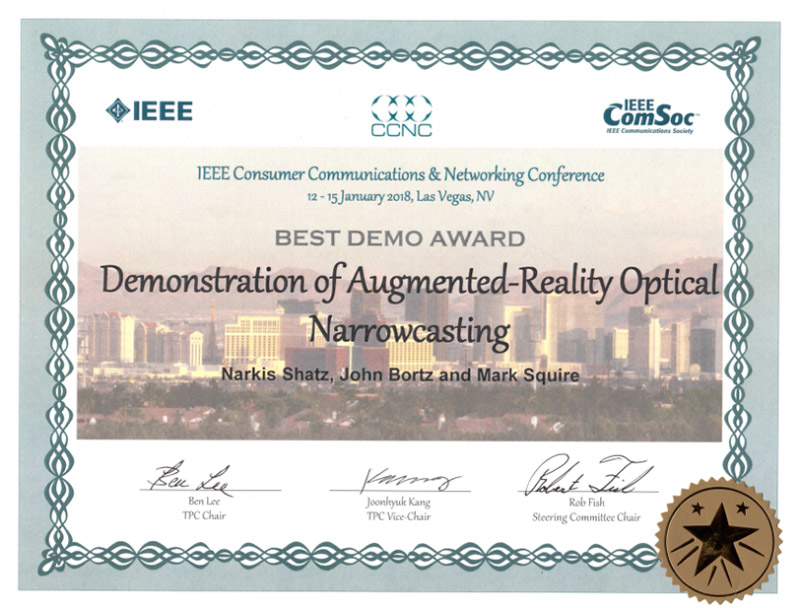ARON Wins Best Demo Award At IEEE 2018